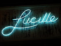 Neon Blue Lucille Royalty Free Stock Photos
