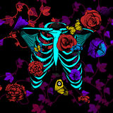 Neon bones Stock Image