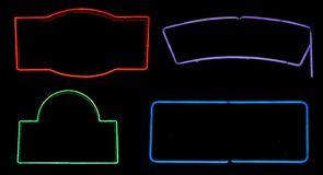 Neon Boxes Stock Photography