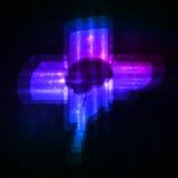 Neon brain, abstract illustration. Stock Photo
