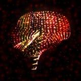 Neon brain, abstract illustration. Stock Image