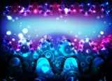 Neon bright blue horizontal background Stock Images