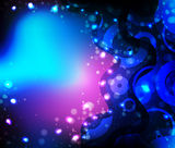 Neon bright blue oval background Stock Images
