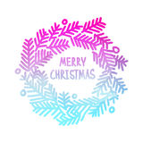 Neon bright square design with gradient Christmas Royalty Free Stock Photo