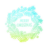 Neon bright square design with gradient Christmas Stock Photo