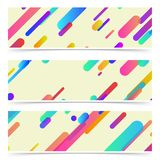 Neon bright thin contemporary lines cards collection Royalty Free Stock Image