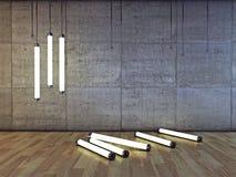 Neon bulbs Royalty Free Stock Photos