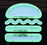 Neon Burger Royalty Free Stock Photo