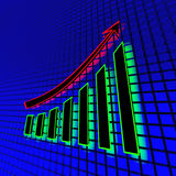 Neon business chart Royalty Free Stock Image