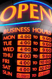 Neon Business Sign Royalty Free Stock Photos