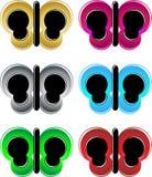 Neon Butterflies stock images