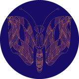 Neon butterfly Royalty Free Stock Photo