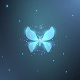 Neon butterfly Royalty Free Stock Photos