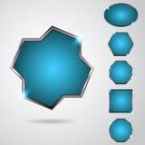 Neon button Royalty Free Stock Photo