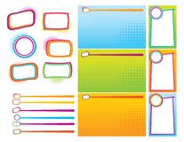 Neon Buttons and Backgrounds Royalty Free Stock Image