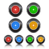 Neon buttons Royalty Free Stock Image