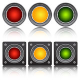 Neon buttons Stock Images