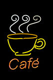 Neon cafe sign Royalty Free Stock Photography
