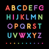 Neon capital alphabets Stock Photos