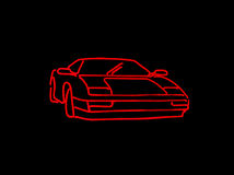 Neon Car Stock Image