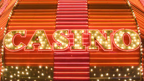 Neon casino marquee Royalty Free Stock Photos
