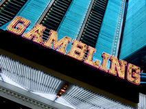 Neon casino marquee Stock Photo