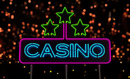 Neon Casino Sign Royalty Free Stock Photo
