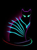 Neon Cat Royalty Free Stock Photos