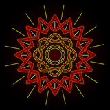 Neon Celtic Sun Royalty Free Stock Images