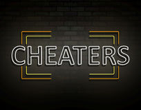 Neon cheaters concept. Stock Images