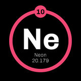 Neon chemical element Stock Photos