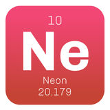 Neon chemical element Royalty Free Stock Image