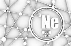 Neon chemical element. Royalty Free Stock Image