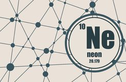 Neon chemical element. Royalty Free Stock Photos