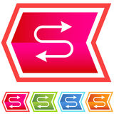 Neon Chevron Icon Set: Ethernet Symbol Royalty Free Stock Photography