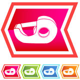 Neon Chevron Icon Set: Tape Dispenser Royalty Free Stock Photography