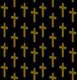 Neon Christian Cross Seamless Pattern Design Royalty-vrije Stock Fotografie