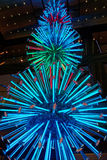 Neon Christmas Decorations Royalty Free Stock Images
