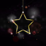 Neon Christmas star decoration bakground Stock Photos