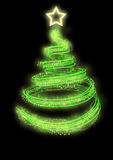 Neon christmas tree Stock Image