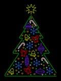 Neon Christmas tree Stock Photography