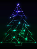 Neon_christmas_tree Stock Photo