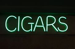 Neon Cigar Sign Stock Photos