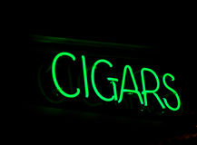 Neon Cigar Sign Stock Photos
