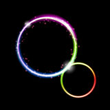 Neon circle background2 Royalty Free Stock Photos