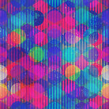 Neon circle seamless pattern Stock Photography
