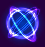 Neon circle vector light. And template concept Stock Photo