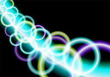 Neon circles Royalty Free Stock Image