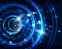Neon circles abstract background Royalty Free Stock Images