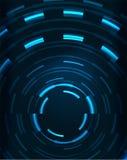 Neon circles abstract background Stock Photos